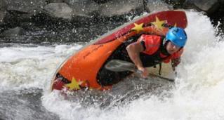 Champion de kayak freestyle