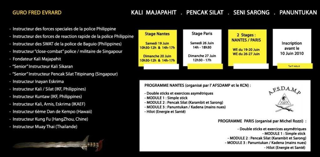 Stage de Kali/Silat avec Fred Evrard