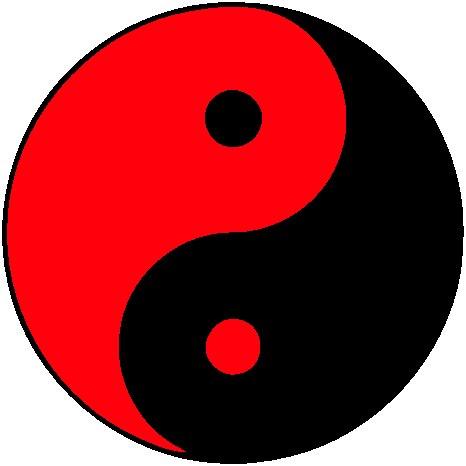 yin-yang noir-rouge