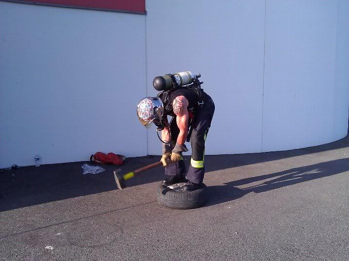 Champions au Firefighter Challenge, avec Lafay