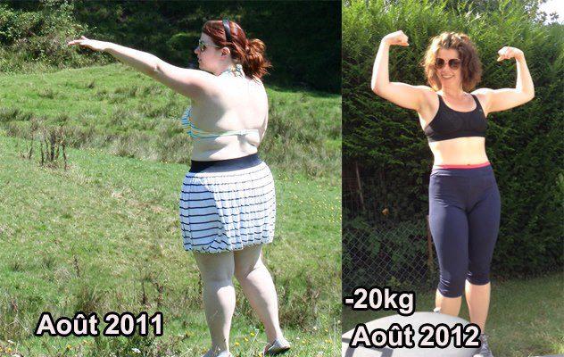 Août 2011/août 2012 : Camille a perdu 20 kgs en un an